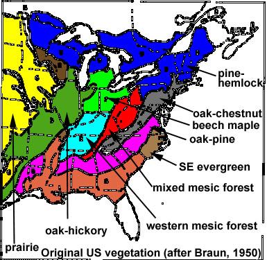 LONCAPA BIOMES - Biome map ofthe us